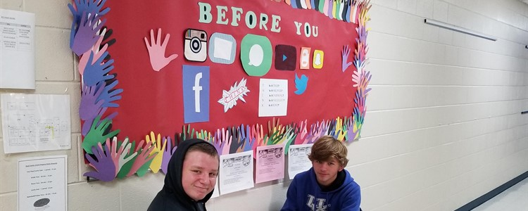 Dylan and Josh Helping Stamp out Bullying.
