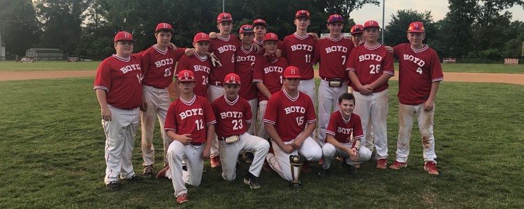 2019 Middle School OVC Baseball Champions - Congratulations Boyd County Middle School!