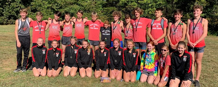 KTCCCA Area 7 Cross Country Meet - Boys 1st place/Girls 2nd Place