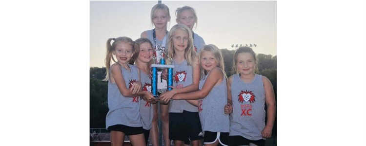 Tri-State Elementary Cross Country Meet - Girls K-5th 2nd place winners!