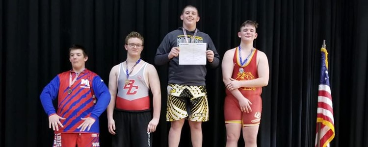 BCMS Wrestling - Congratulations Nate Manning Third Place 240lb class!