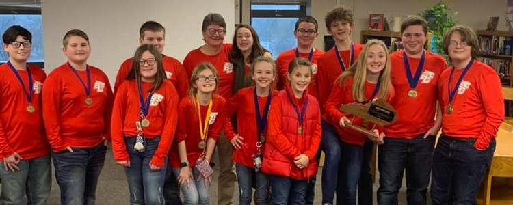 BCMS Academic Team - 2020 District Champions!