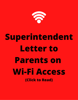 Superintendent Letter to Parent on Wi-Fi Access