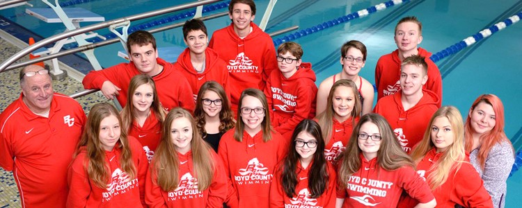 Boyd County Swim Team.