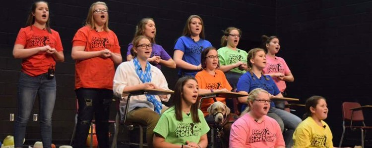 Schoolhouse Rock LIVE!, Jr. cast sings during their performance. -photo by Roxane Gross