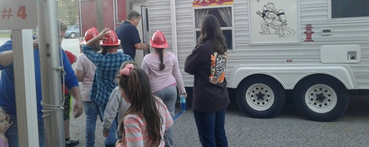 21st Century Community Learning Center's WOW program held a Lights On Afterschool event which featured the fire safety awareness trailer from the Catlettsburg Fire Department.