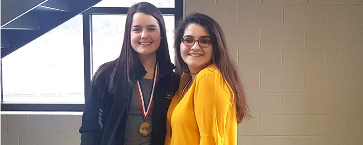 BCHS students Maggie Kinnel and Shelby Willis advanced to the State Governor's Cup Competition. At regionals, Maggie placed 3rd in Arts and Humanities and will be seeded 6th in the state; Shelby was 5th in Composition after winning the district.