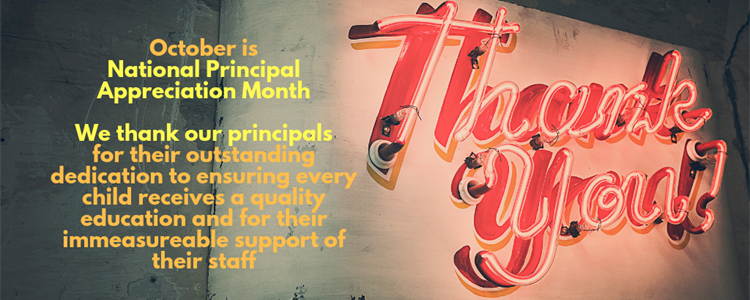 Graphic for National School Principal Appreciation Month.