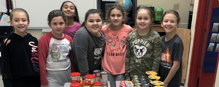 This Cannonsburg STLP Team has started a Blessing Box for students. Students can go to the Blessing Box throughout the day and get any items that they might need. This includes hygiene items, food items, hats and gloves.