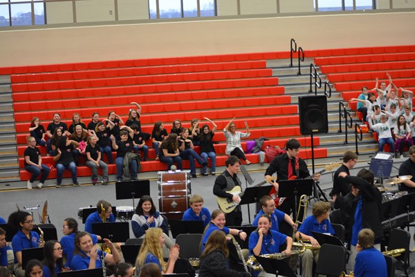Reaction to the Boyd County High Jazz Band playing Y.M.C.A.