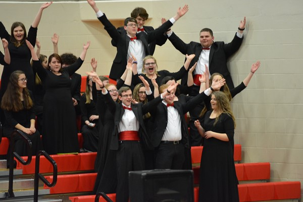 BCHS Choir gets into the act with Y.M.C.A.