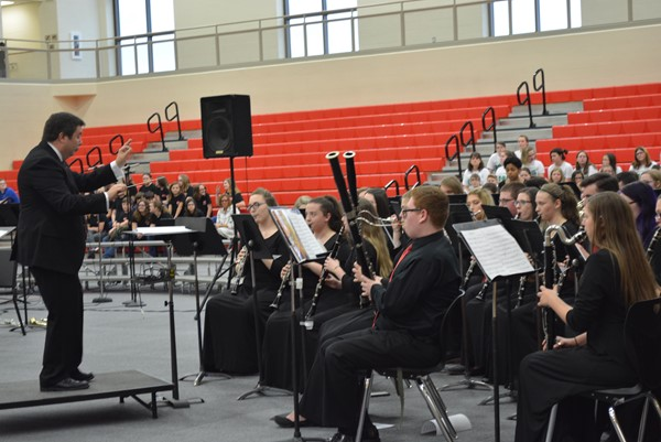The Boyd County High School Band under the direction of Mr. John Johnson.