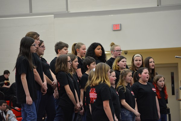 The 6th Grade Choir under the direction of Ms. Melissa Downey.