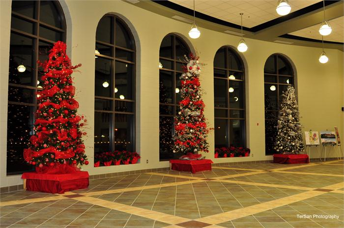 The new BCHS dedication - decorated Christmas trees.