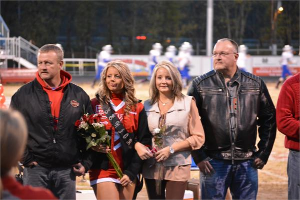 Senior Night - seniors are escorted onto the field with their parents/guardians for special recognition.