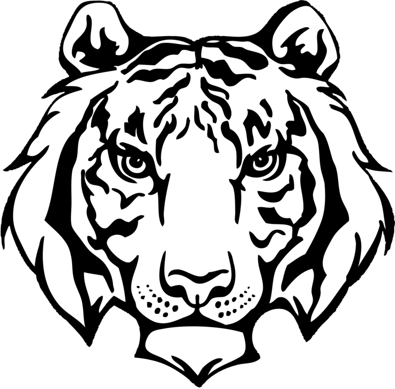 tiger face logo black and white Funny Elephant Clip Art baby elephant face clip art