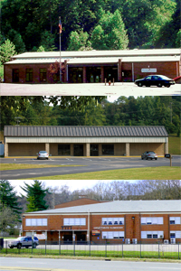 Stacked picture of the 3 preschool centers.