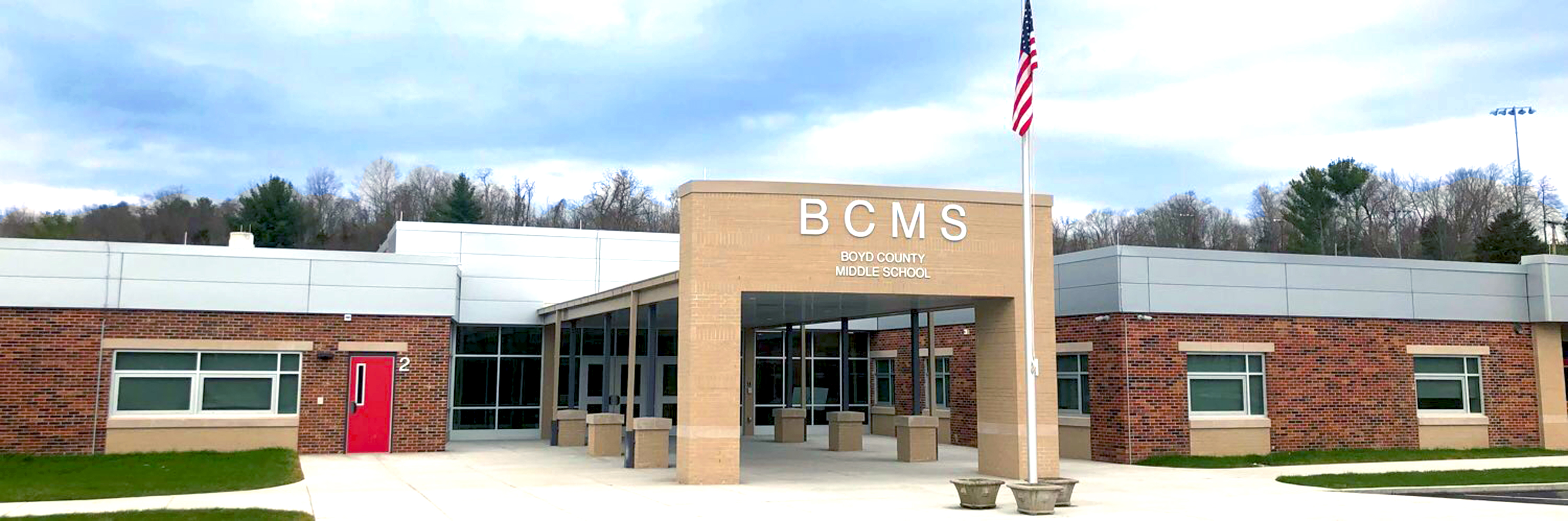 Boyd County Middle School front facade.
