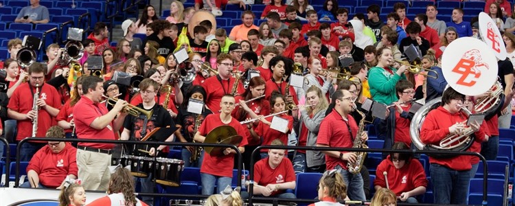 BCHS Band Supporting our Lady Lions at KHSAA Girls' Sweet Sixteen